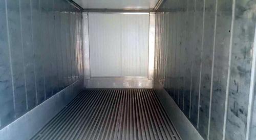 Gebrauchte Isoliercontainer Innenauskleidung Edelstahl Alu-T-Grating-Fußboden mit Anfahrschutz