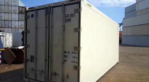 Gebrauchte 20´- Isoliercontainer High-Cube-Ausführung überholt lackiert in RAL 9010