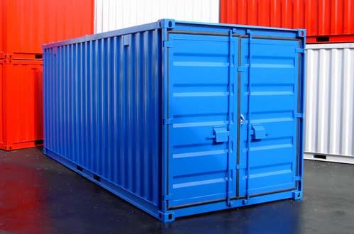 neue Lagercontainer Materialcontainer mit kompletter Einbruchsicherung Diebstahlschutz