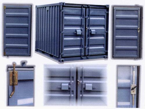 Türsicherungssystem (Diebstahlschutz) unserer fabrikneuen Lagercontainer