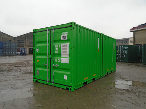 Double-Door-Seecontainer RAL 6018 - 10 Fuss