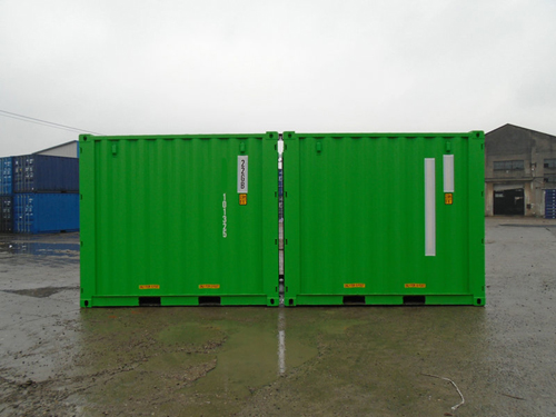 10 Fuss Double-Door-Seecontainer RAL 6018
