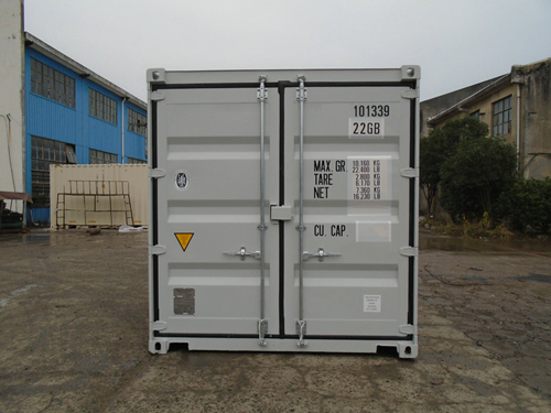 10 Fuss Double-Door-Seecontainer RAL 7035