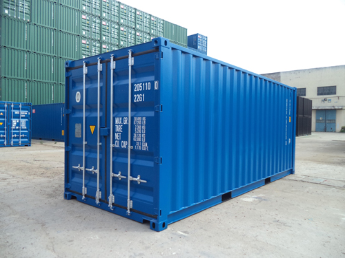 Neue Seecontainer 20 Fuss Ausführung RAL 5010