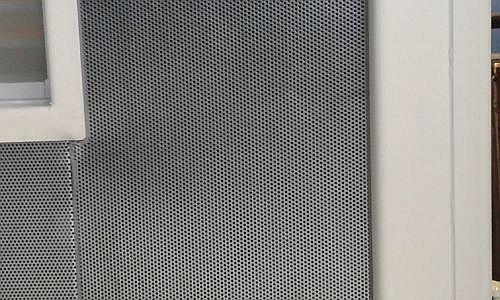 neue Schallschutzcontainer Detail der Schallschutzplatten