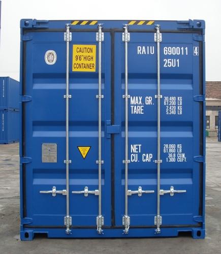 Neue Seecontainer Mit Lockbox Sicherung Als Einbruchschutz